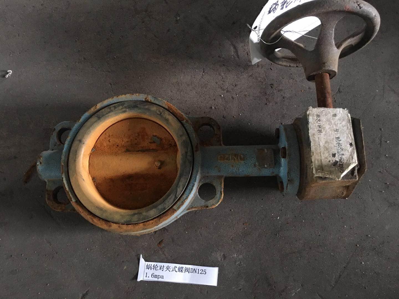 蜗轮对夹式蝶阀DN125 1.6mpa