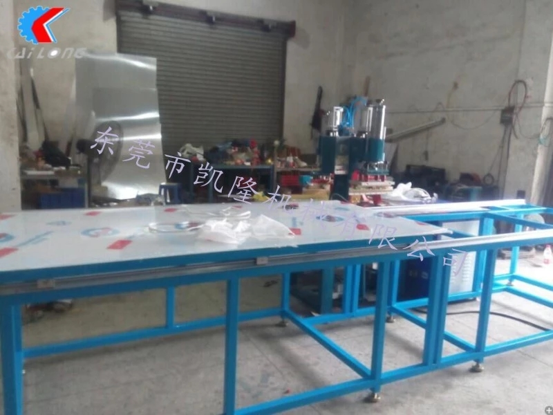 广州软膜天花焊接拼接机 软膜天花扣边条压边机